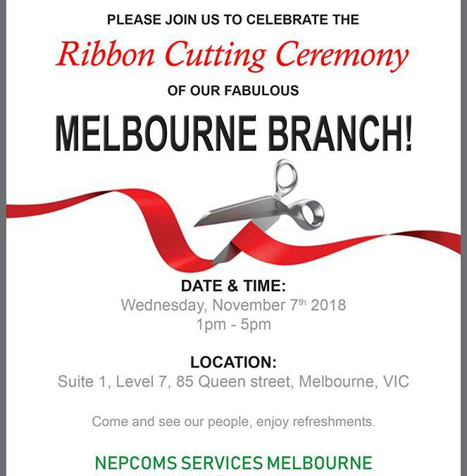 Ribbon Cutting Ceremony of Nepcoms Services Melbourne